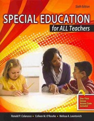 Special Education for All Teachers 6th Edition 9781465215291 1465215298