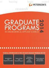 Graduate Programs in Engineering and Applied Sciences 2014 (Grad 5) 48th edition 9780768937718 076893771X