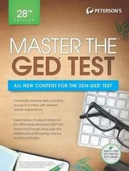 Master the GED Test 28th Edition 9780768937497 0768937493