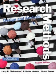 Research Methods, Design, and Analysis 12th edition 9780205961252 0205961258