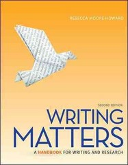 Writing Matters Tabbed (Comb Bound Edition) 2nd Edition 9780077840280 0077840283