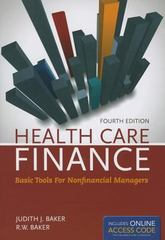 Health Care Finance 4th Edition 9781449687274 144968727X