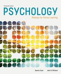 Psychology 13th Edition 9781285739281 1285739280