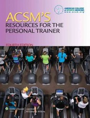 ACSM Personal Trainer Study Kit 9th Edition 9781469832401 1469832402