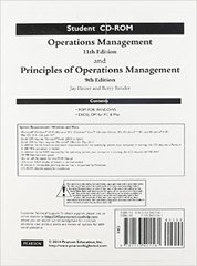 Student CD for Operations Management 11th Edition 9780133401561 0133401561