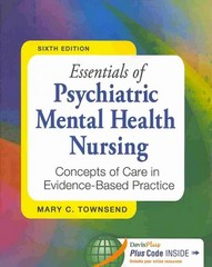 Essentials of Psychiatric Mental Health Nursing 6th Edition 9780803638761 0803638760