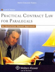 Practical Contract Law for Paralegals 3rd Edition 9781454828020 1454828021