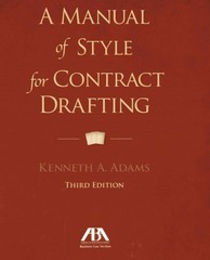Manual of Style for Contract Drafting 3rd Edition 9781614388036 1614388032