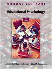 Annual Editions: Educational Psychology, 28/e 28th Edition 9780078136078 0078136075