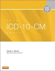 2014 ICD-10-CM Draft Edition 1st Edition 9781455722907 1455722901