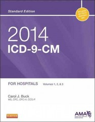 2014 ICD-9-CM for Hospitals, Volumes 1, 2 and 3 Standard Edition 1st Edition 9780323186759 0323186750
