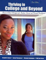 Thriving in College and Beyond 3rd Edition 9781465210746 1465210741