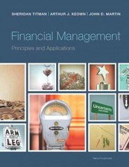 Financial Management 12th Edition 9780133423822 0133423824