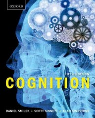 Cognition 5th Edition 9780195447491 0195447492