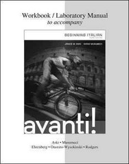Workbook / Laboratory Manual for Avanti: Beginning Italian 3rd Edition 9780077595661 0077595661