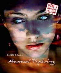Abnormal Psychology--DSM-5 Update 8th edition 9781464137198 1464137196