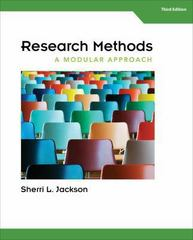 Research Methods 3rd Edition 9781305142879 130514287X