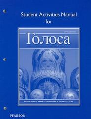Student Activities Manual for Golosa 5th Edition 9780205214822 0205214827