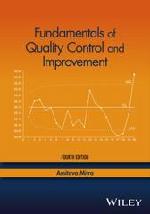 Fundamentals of Quality Control and Improvement 4th Edition 9781118705148 1118705149
