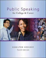 Public Speaking for College & Career with Connect Plus Public Speaking Access Card 10th Edition 9780077801717 0077801717