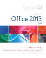 Exploring: Microsoft Office 2013, Plus 1st Edition 9780133412161 0133412164
