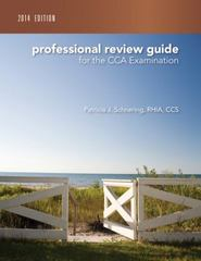 Professional Review Guide for the CCA Examination, 2014 Edition 1st Edition 9781305178076 1305178076