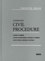 Stempel, Baicker-McKee, Coleman, Herr, and Kaufman's Learning Civil Procedure 1st Edition 9780314278777 031427877X