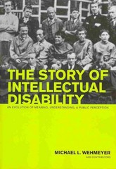 The Story of Intellectual Disability 1st Edition 9781598575354 159857535X