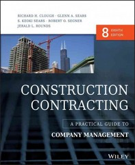 Construction Contracting 8th Edition 9781118693216 1118693213
