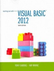 Starting Out With Visual Basic 2012 plus MyProgrammingLab with Pearson eText -- Access Card Package 6th Edition 9780133441871 0133441873