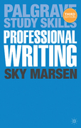 Professional Writing 3rd Edition 9781137309013 1137309016