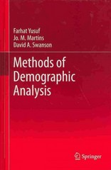 Methods of Demographic Analysis 1st Edition 9789400767836 9400767838