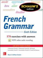 Schaum's Outline of French Grammar 6th Edition 9780071828994 0071828990