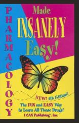 Pharmacology Made Insanely Easy 4th Edition 9780984204076 0984204075
