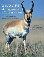 Wildlife Management and Conservation 1st Edition 9781421409863 1421409860