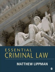 Essential Criminal Law 1st Edition 9781483313054 1483313050