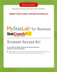 MyStatLab for Business Statistics -- Standalone Access Card 1st Edition 9780321921468 0321921461