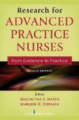 Research for Advanced Practice Nurses, Second Edition 2nd Edition 9780826137265 0826137261
