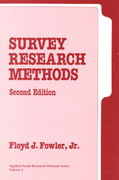 Survey Research Methods 2nd edition 9780803950498 0803950497