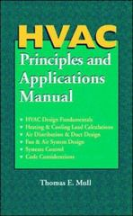 HVAC Principles and Applications Manual 1st edition 9780070444515 007044451X