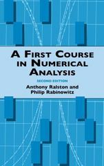 A First Course in Numerical Analysis 2nd edition 9780486414546 048641454X