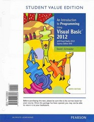 An Introduction to Programming Using Visual Basic 2012, Student Value Edition plus MyProgrammingLab with Pearson eText -- Access Card Package 9th Edition 9780133414653 0133414655