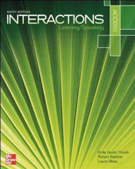 Interactions Access Listening/Speaking 6th Edition 9780073399546 007339954X