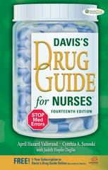 Davis's Drug Guide for Nurses 14th Edition 9780803639768 0803639767