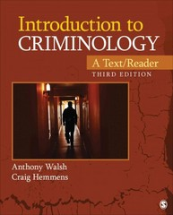 Introduction to Criminology 3rd Edition 9781452258201 1452258201