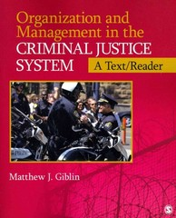 Organization and Management  in the Criminal Justice System 1st Edition 9781452219929 1452219923