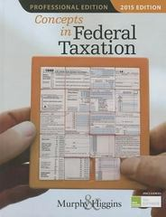 Concepts in Federal Taxation 2015, Professional Edition (with H&R Block Tax Preparation Software CD-ROM) 22th Edition 9781285444130 1285444132