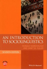 An Introduction to Sociolinguistics 7th Edition 9781118732298 1118732294