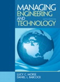 Managing Engineering and Technology 6th Edition 9780133485103 0133485102