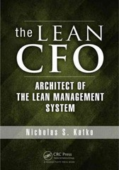 The Lean CFO 1st Edition 9781466599413 1466599413